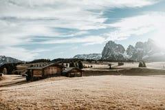 Ett hus i bergen Fotografering för Bildbyråer
