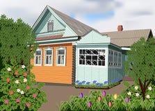 Ett hus i byn Arkivbild