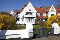 Ett hus i Knokke, Belgien Arkivbilder
