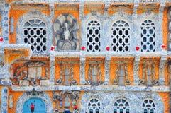 Ett hus som göras av porslin royaltyfri foto