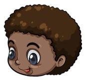 Ett huvud av en svart ung man Arkivbild
