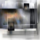 Ett i lager skuggat panelabstrakt begrepp arkivbild