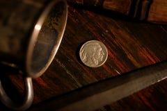 Ett indiskt mynt arkivfoton