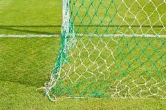 ett ingreppsfotbollfält Arkivfoto