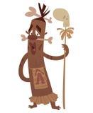 Kannibal med ben och skallen Royaltyfri Bild