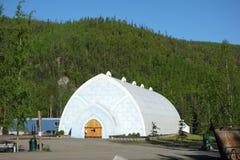 Ett ismuseum i arktisken royaltyfri bild