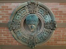 Ett järnväg emblem arkivbild