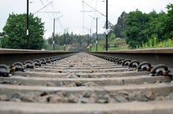 Ett järnvägspår royaltyfri foto