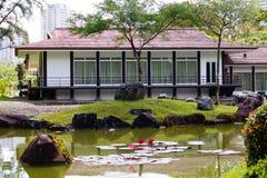 ett japanskt hus i japan garde arkivfoto