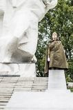Ett jubileums- samlar som delen av rekonstruktionen av striden av världskrig 2 nära Moskva Royaltyfri Fotografi