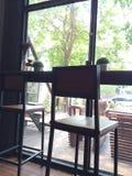 Ett kaffehörn med garnering Fotografering för Bildbyråer