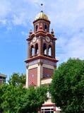 Ett Klocka torn i i stadens centrum Kansas City, Missouri arkivbild