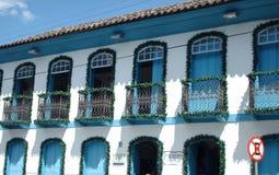 Ett kolonialt hus i Brasilien Arkivfoton