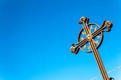 Ett kors på himlen Royaltyfri Foto