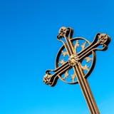 Ett kors på himlen Royaltyfri Fotografi