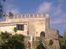 Ett kort av en forntida byggnad royaltyfri foto