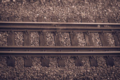 Ett kulört järnvägspår för sepia arkivbilder