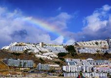 Ett kust- landskap från Puerto Rico i Gran Canaria royaltyfri foto