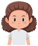 Ett kvinnligt tecken för lockigt hår vektor illustrationer