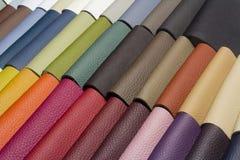 Ett läder för bra kvalitet i olika färger Royaltyfri Bild