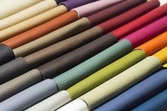 Ett läder för bra kvalitet i olika färger Royaltyfri Foto