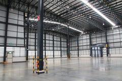 Ett lager är en kommersiell byggnad för lagring av gods Royaltyfri Bild