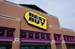 Ett lager för Best Buy konsumentelektronik Arkivfoto