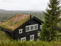 Ett landshus i Dalarna, Sverige Royaltyfri Fotografi