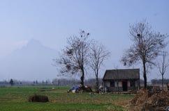 Ett landskap av bygd i shannxilandskap i Kina Royaltyfri Bild