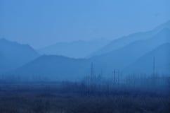Ett landskap av bygd i shannxilandskap i Kina Arkivbilder