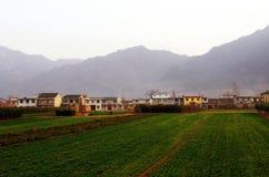 Ett landskap av bygd i shannxilandskap i Kina Arkivfoto