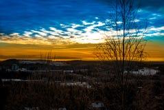 Ett landskap med en härlig himmel Royaltyfri Bild