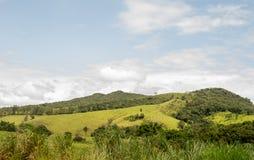 Ett landskap med montains arkivfoton