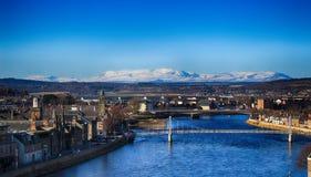 Ett landskap om Inverness arkivbilder