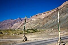 Ett landskap på den Zanskar dalen nära Padum, Zanskar-Ladakh, Jammu and Kashmir, Indien Arkivfoton