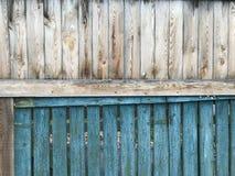 Ett lantligt två-skuggat staket Royaltyfri Fotografi