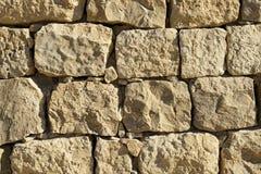 Ett litet avsnitt av den bysantinska väggen på Shivta i Israel royaltyfria bilder