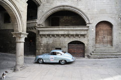 Ett ljus - blåa Porsche 356 toppen 1500 Arkivbild
