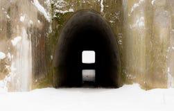 Ett ljus slutligen av en tunnel royaltyfri foto