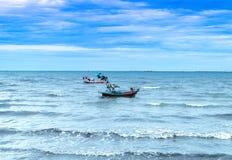 Ett lokalt fiskarefartygankare Arkivbilder