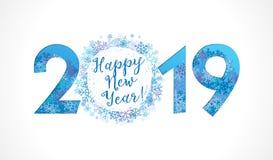 2019 ett lyckligt nytt år stock illustrationer