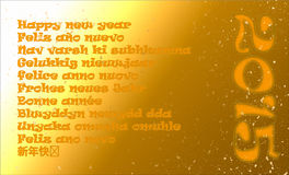 Ett lyckligt nytt år i elva olika språk Arkivbilder