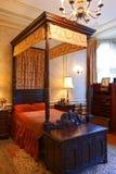 Ett lyxigt antikt sovrum i casaen Loma Fotografering för Bildbyråer