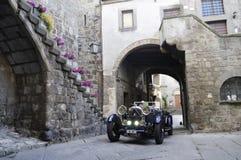 Ett mörker - blåa Lagonda 2 liter Arkivbilder