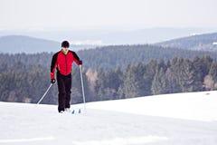 Arg-land skidåkning Fotografering för Bildbyråer