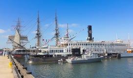 Ett maritimt museum av San Diego Shot fotografering för bildbyråer