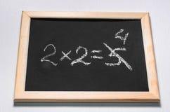 Ett matematiskt exempel arkivbild