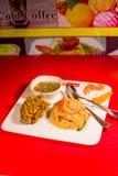Ett matställeobjekt på en tabell fotografering för bildbyråer