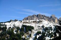 Ett maximum i dolomitesna av Alto Adige, Italien Royaltyfria Bilder