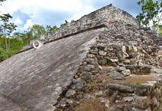 Ett Mayan bollfält, Mexico. Close upp Arkivbilder